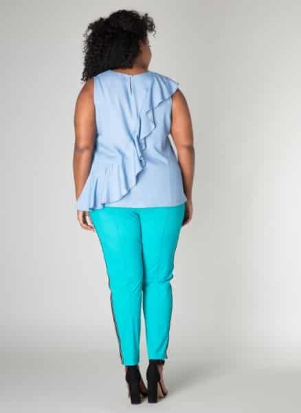 Lichtblauwe blouse - Ivy Bella Plus size kleding 1