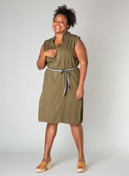 Legergroene jurk - Ivy Bella Plus size kleding 1