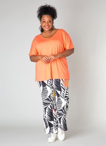 Coral tshirt - Ivy Bella Plus size kleding 1