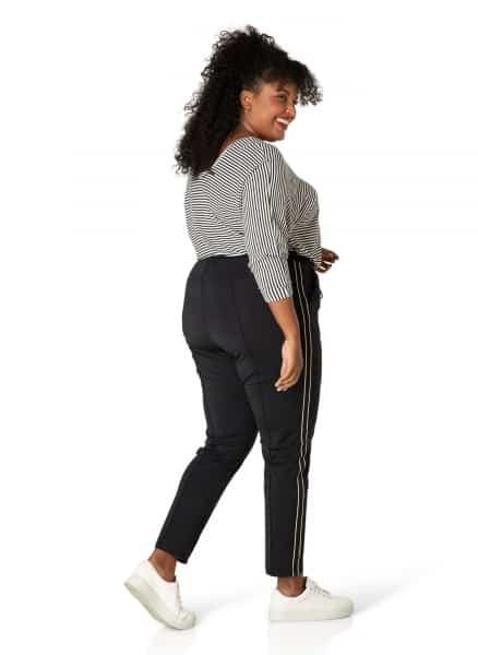Zwarte travelerbroek - Ivy Bella Plus size kleding 1