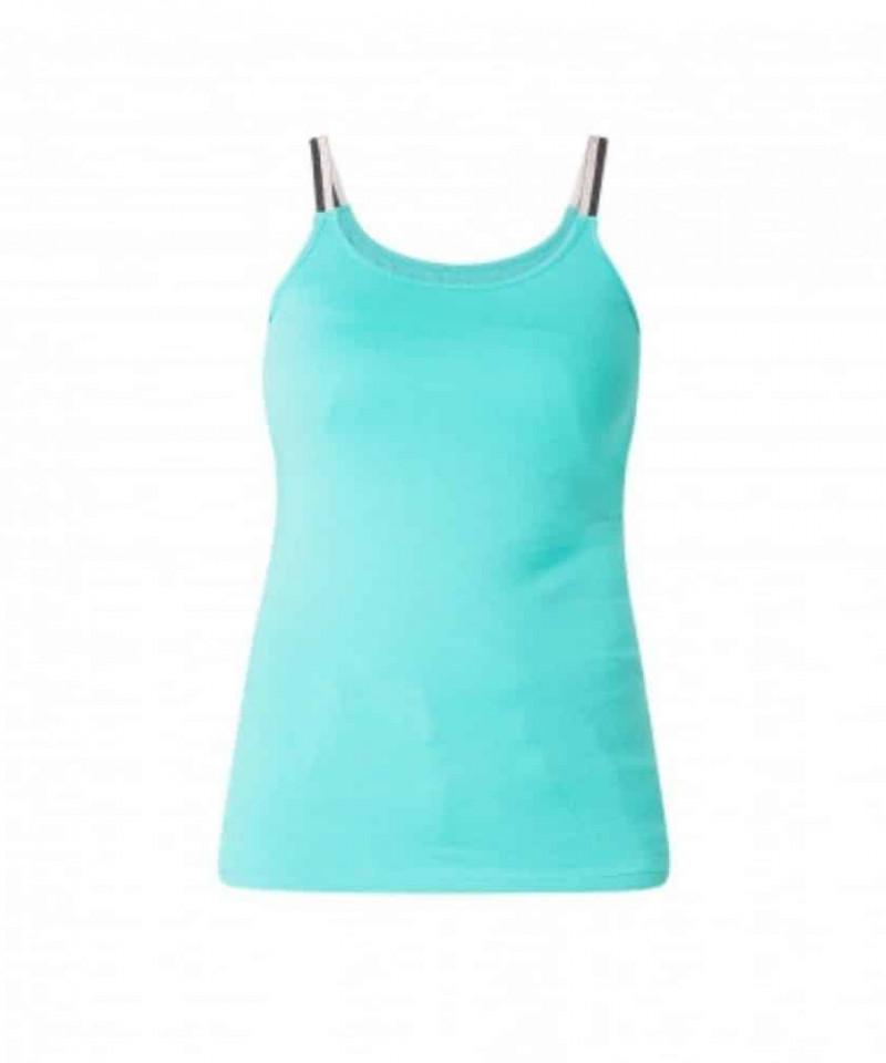 aqua blauwe top