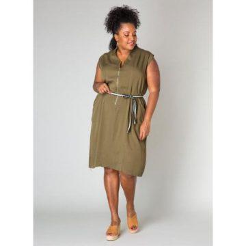 legergroene jurk