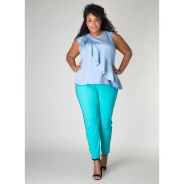 lichtblauwe blouse