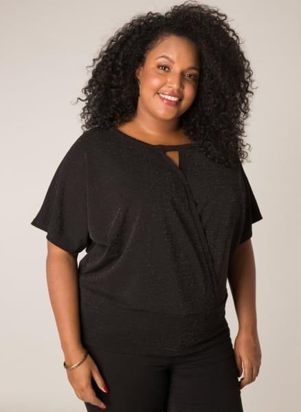 Glitter top dames - Ivy Bella Plus size kleding 1
