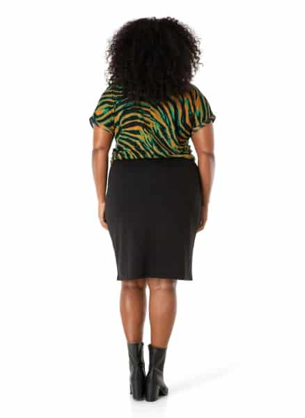 Zwarte rok kort - Ivy Bella Plus size kleding 1