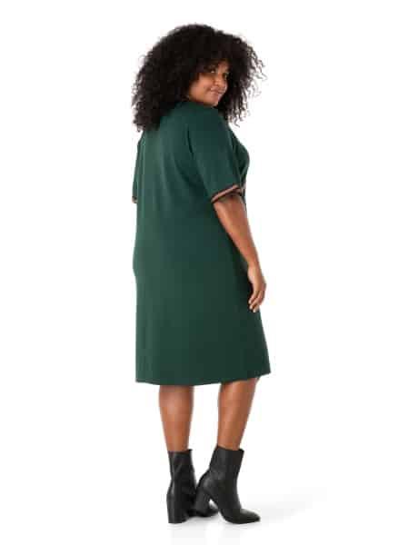 Donkergroene jurk - Ivy Bella Plus size kleding 1