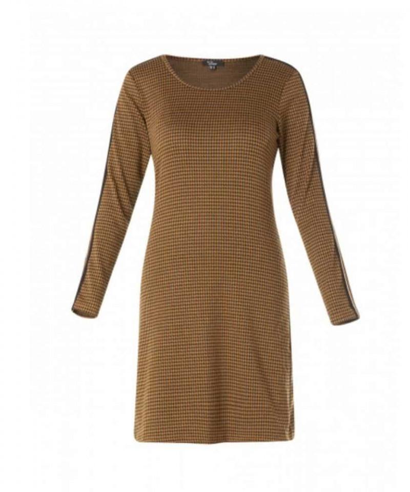 jurk cognac kleur