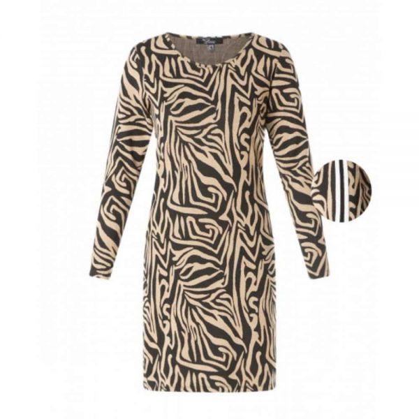 zandkleurige jurk