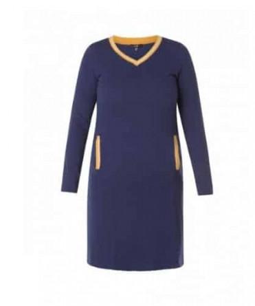 donkerblauwe jurk