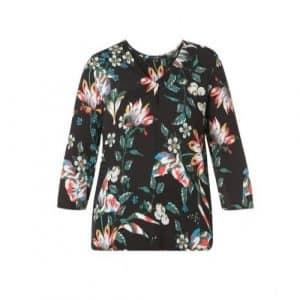 blouse met bloemen