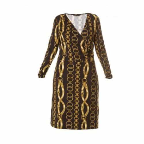 jurk met kettingprint