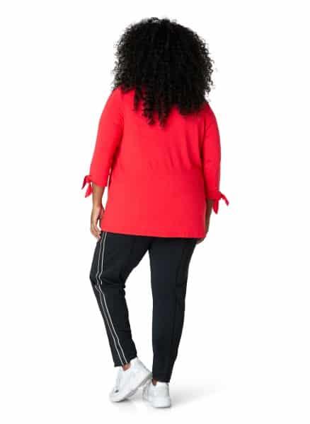 Rood v hals shirt - Plus size kleding Ivy Bella 1
