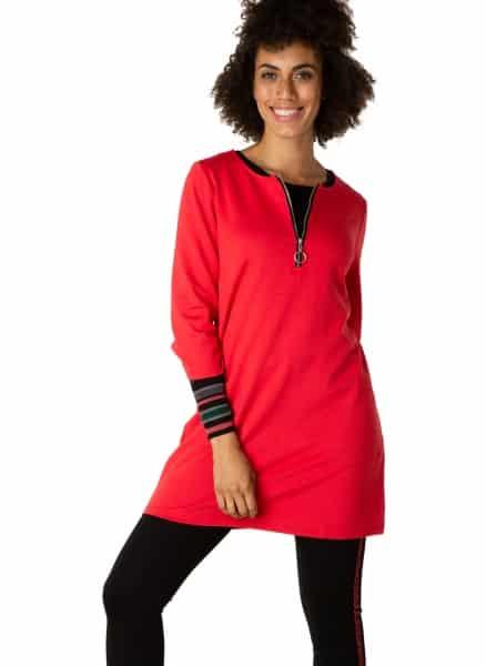 Rode tuniek jurk - Yest 1