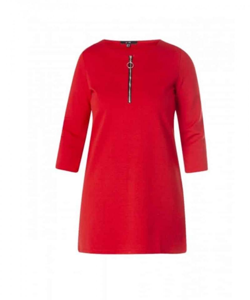 rode tuniek jurk