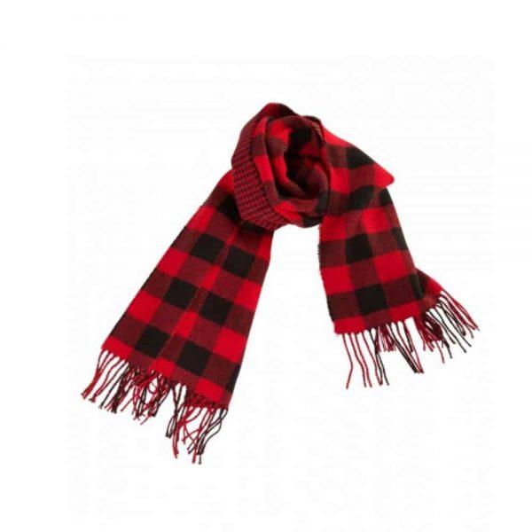 rood zwart geruite sjaal