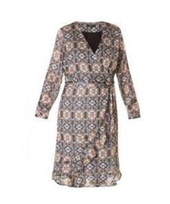 Zwarte jurk lange mouw C&S Design Fashion by Fleur