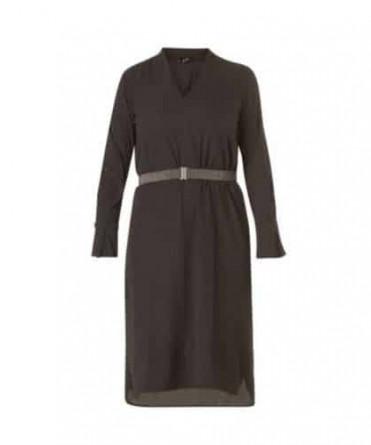 zwarte midi jurk
