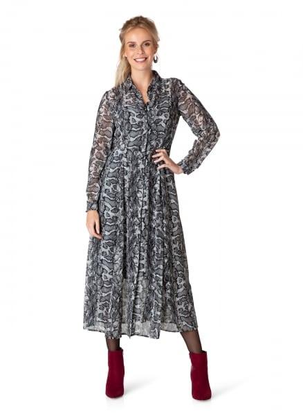 slangenprint jurk