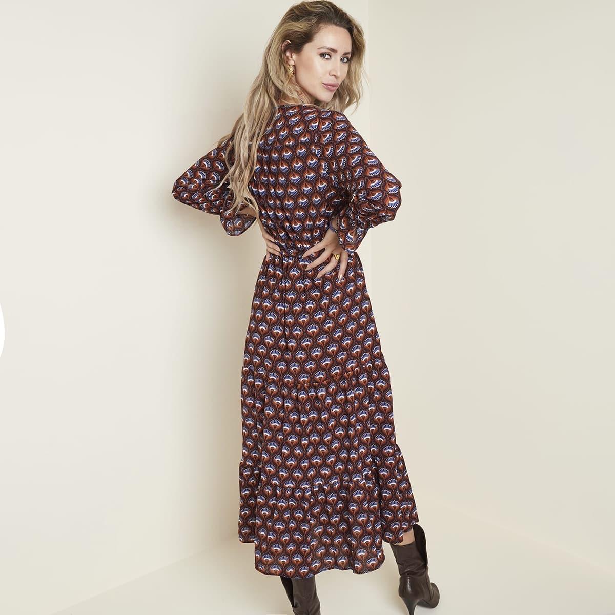 Jurkje met print Yehawang collectie Fashion by Fleur Snelle levering.