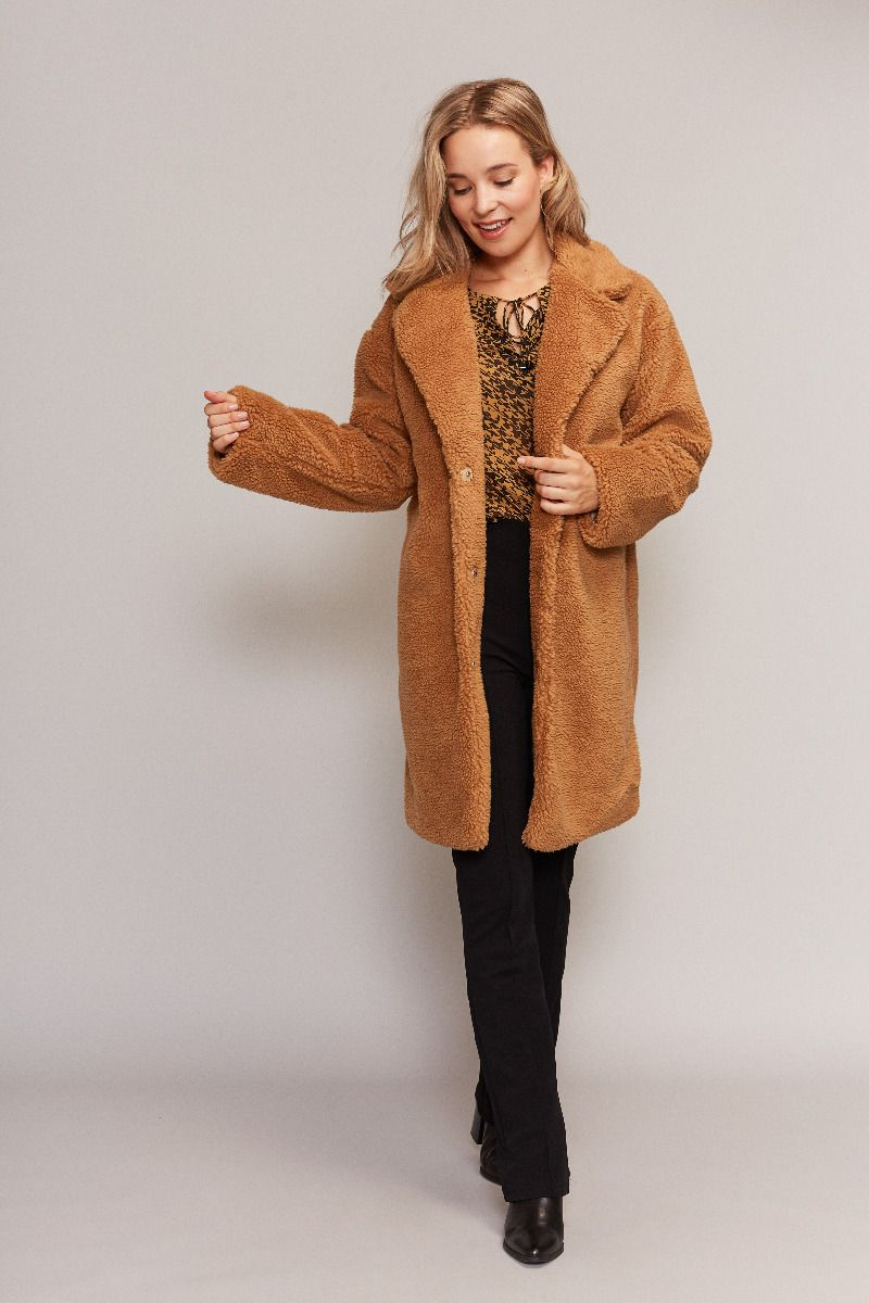 Teddy winterjas dames C&S Design Fashion by Fleur Snelle