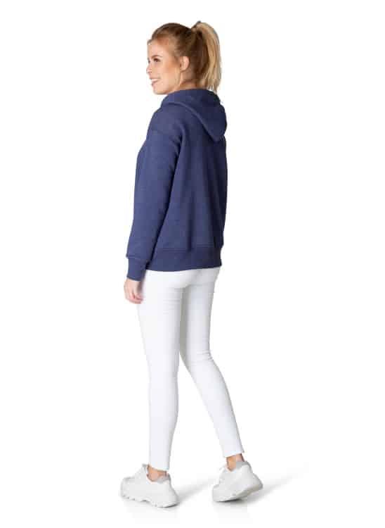 Blauwe dames hoodie - Yest 1