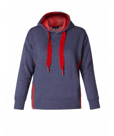 blauwe dames hoodie