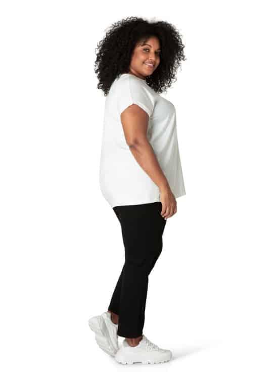 Off white tshirt dames - By Bella 1