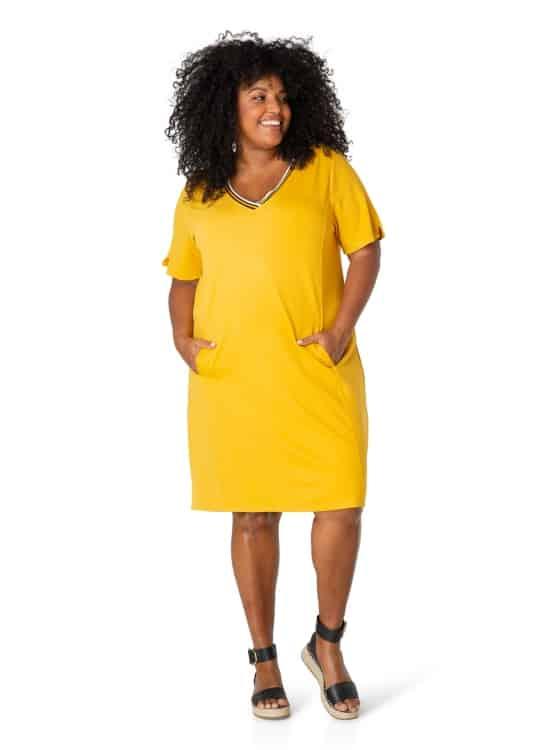 geel jurkje