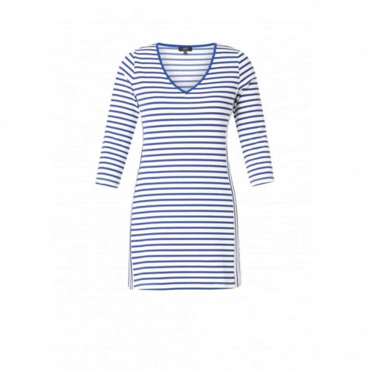 blauw wit gestreepte tuniek