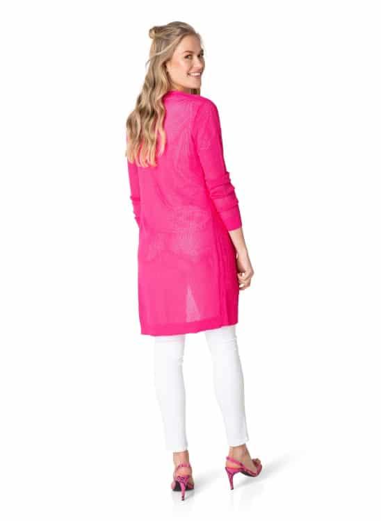 Lang roze vest - Yest 1