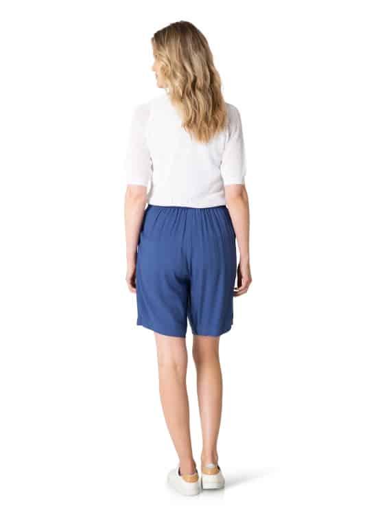 Blauwe korte broek dames - Yest 1
