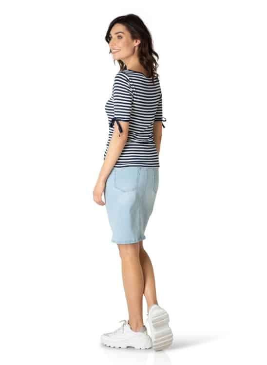 blauw wit gestreept shirt dames