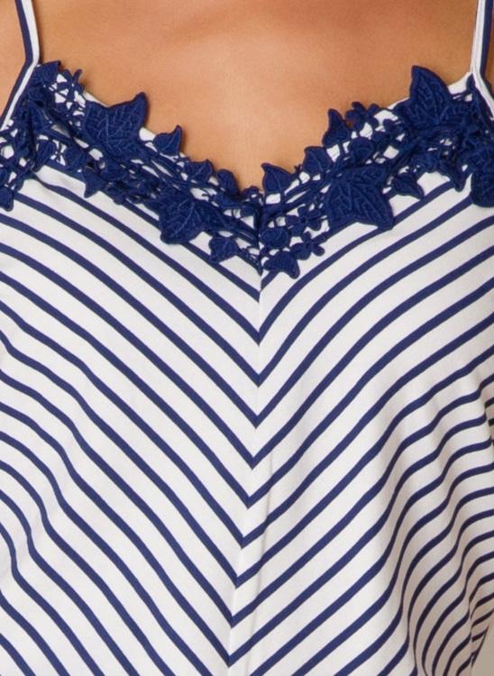 blauw wit gestreepte top