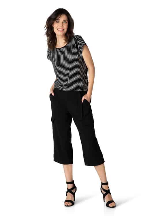 Zwart wit gestreept shirt dames - Yest 2