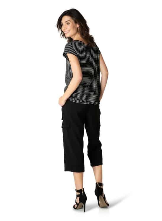 Zwart wit gestreept shirt dames - Yest 1