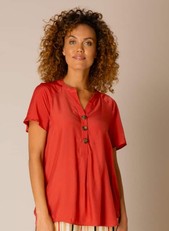 rode dames blouse