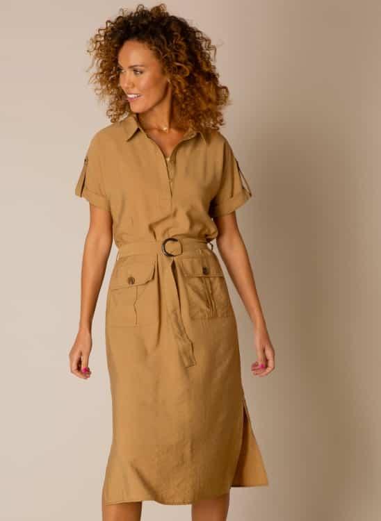camel kleur jurk
