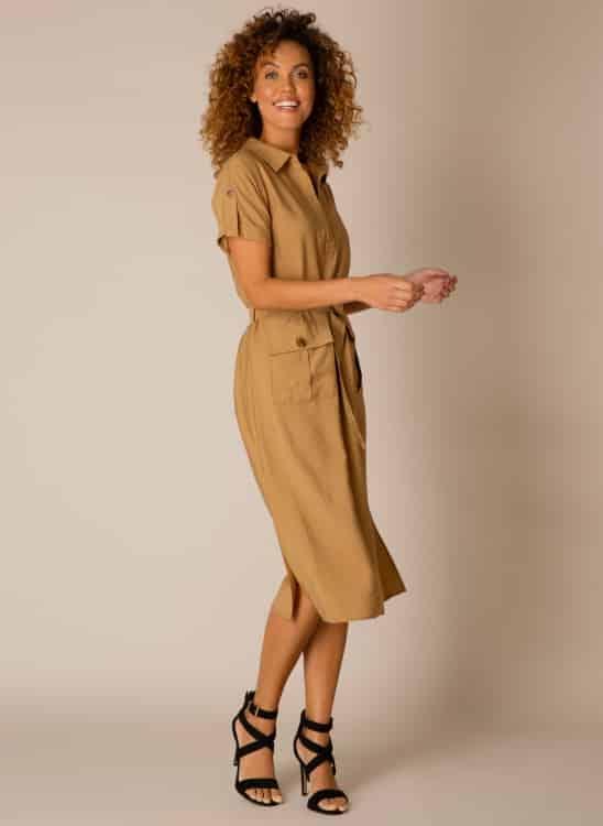 Camel kleur jurk - Yest 1