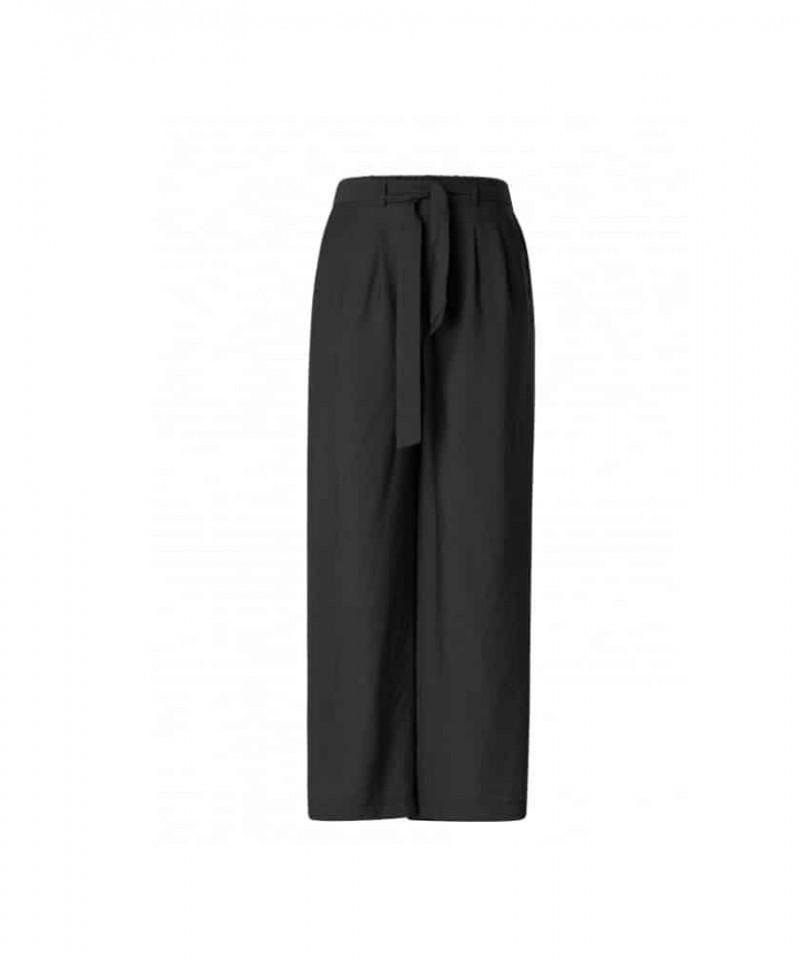 zwarte wijde broek