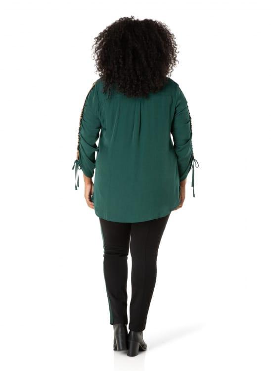 Donkergroene blouse dames - By Bella 1
