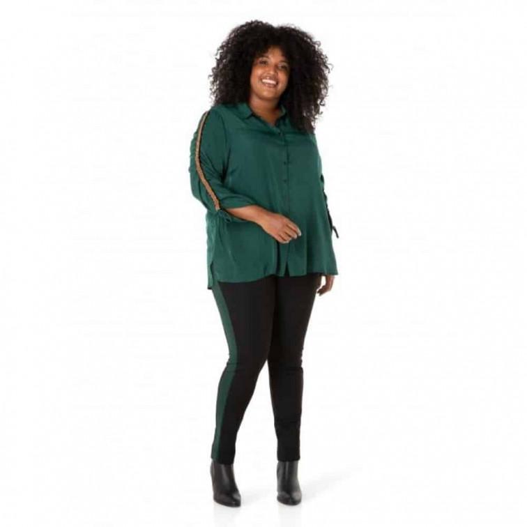 donkergroene blouse dames