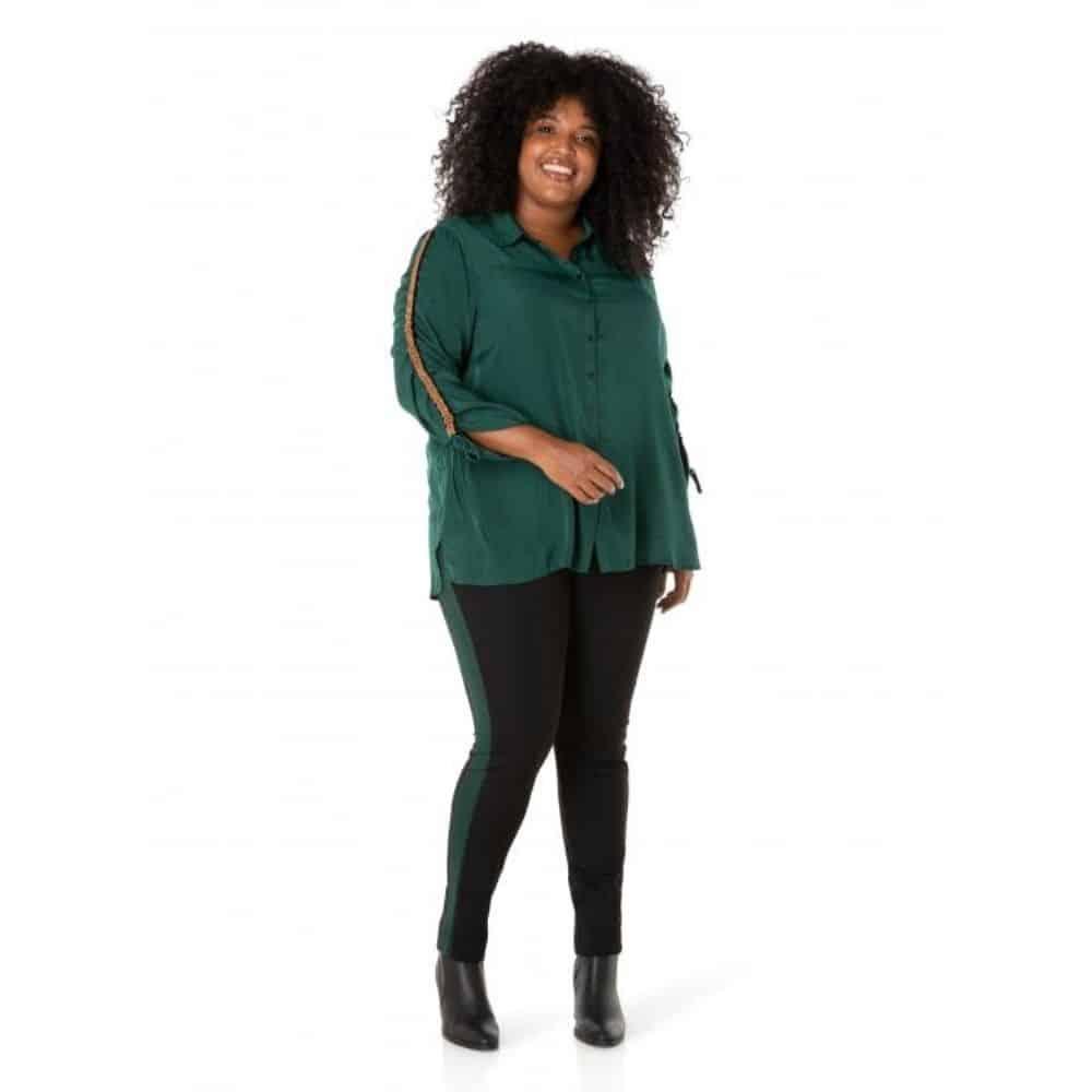 donkergroene dames blouse