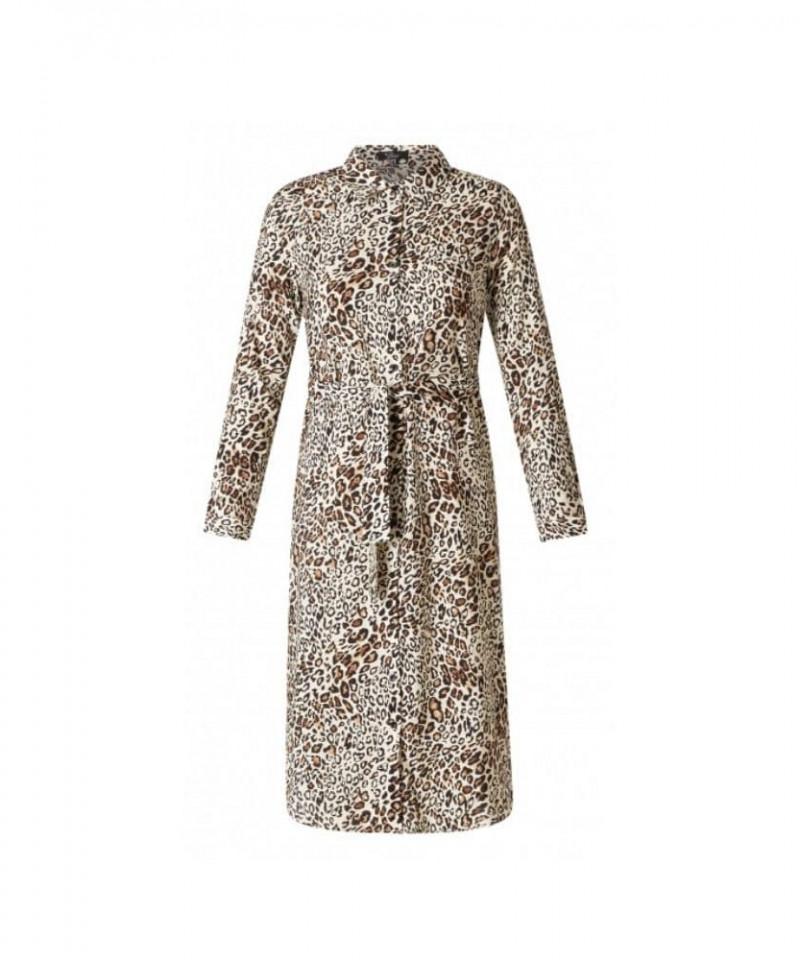 jurk met panterprint
