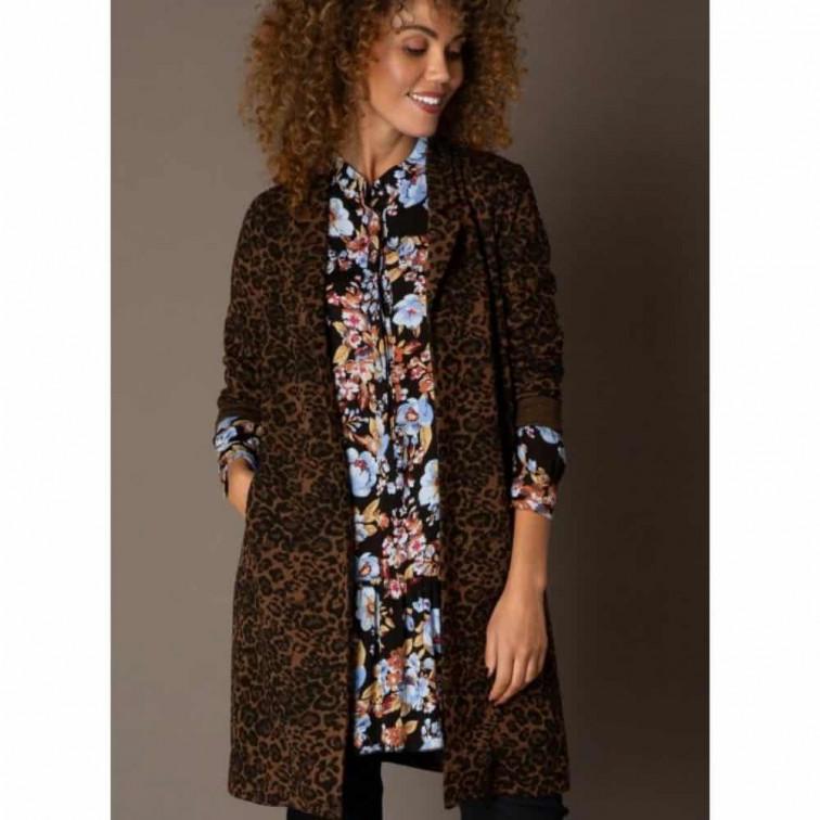 luipaard print blazer dames