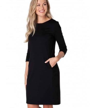 zwart jurkje lange mouw