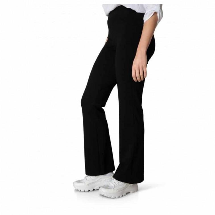 zwarte flaired broek