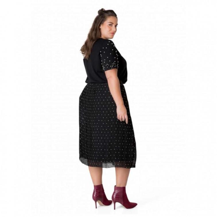 plisse rok grote maat