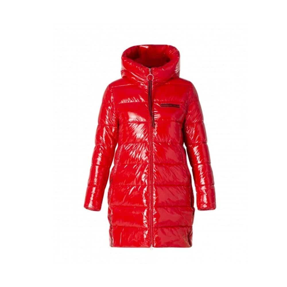 rode winterjas dames lang