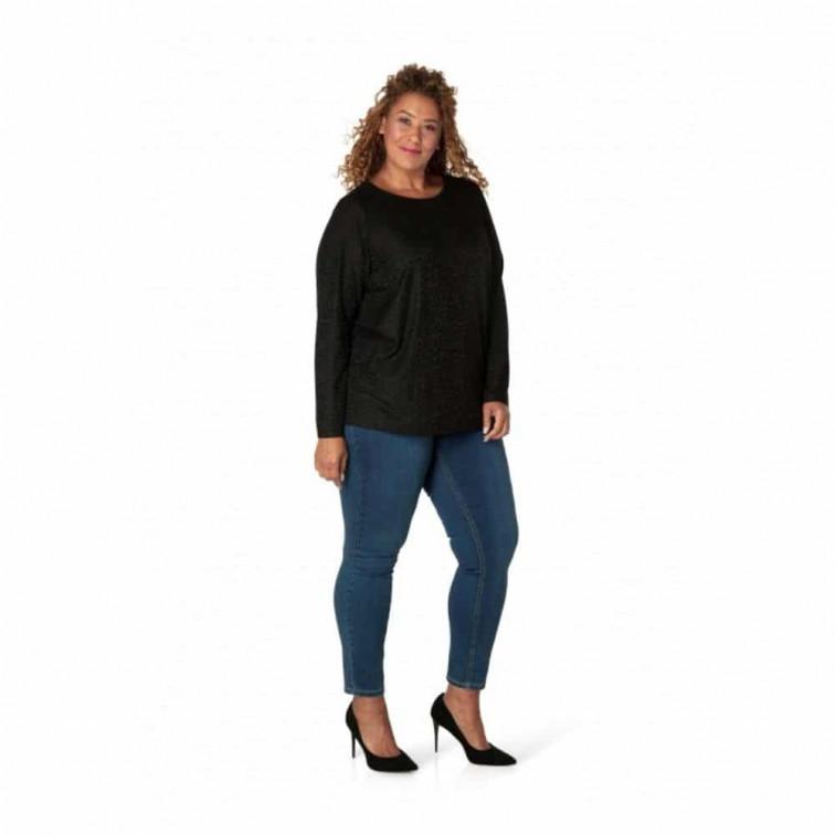 zwart shirt dames grote maten