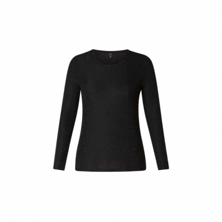 Zwart shirt dames lange mouw- Yesta 1